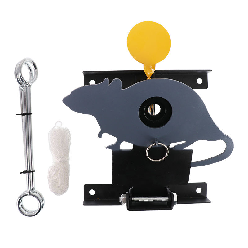 Steel Outdoor moving Cord reset Rat Filed Shooting target