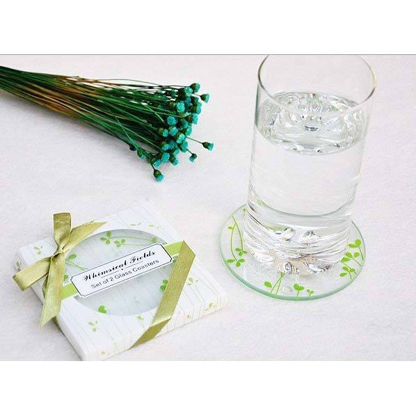wedding gift souvenir glass coaster wedding favors glass coaster wedding favors