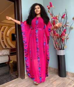 2021 latest design african style kaftan lace chiffon design abaya woman dress islamic clothing jilbab