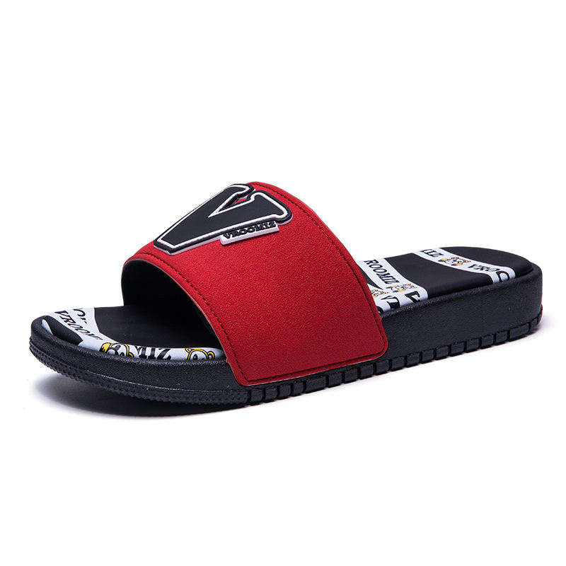 Online Shopping High Quality Pu Slide Sandals,Custom Designed Embossed Slippers,New Design Fashion Pu Men Slippers Logo