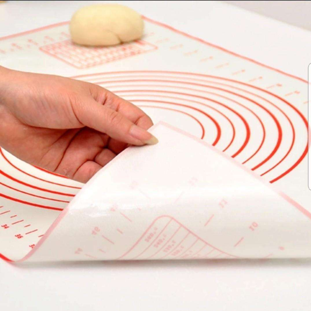 0.40mm thick different sizes non-stick silicone pastry mat for dough rolling