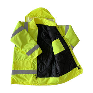 High visibility industrial reflective safety hooded waterproof reflector jackets coat rain coat waterproof