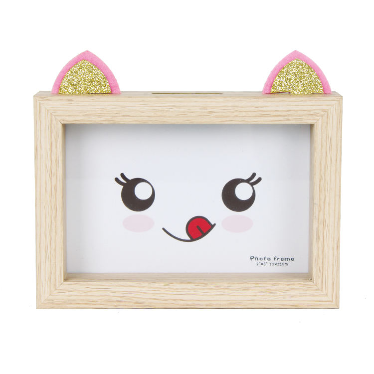 Wooden Shadow Money Saving Box -Wooden Money Piggy Bank With Slot For Kids Gift -Creative Money Bank With Cat Shape