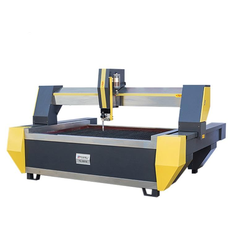 stainless steel material innovative 5 axis 45 degree cutting waterjet machine for hotel