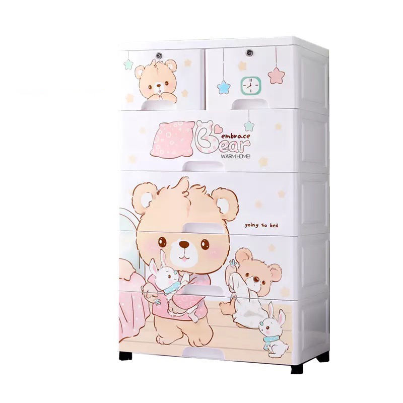 Popular Large Cartoon Kids Toy Storage Cabinet Plastic Cupboard