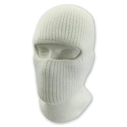 Double Layered Knitted One Hole Balaclava Ski Mask Solid Colors White Ski Mask Custom