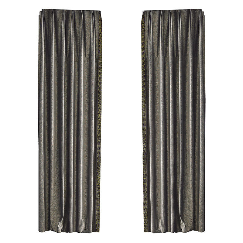 Amazon UK designs Hot Selling Luxury Crushed Velvet for the living room curtains with valance