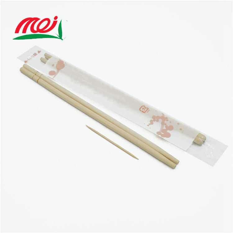 Mao Bamboo [ Japanese Chopstick ] Chopsticks Sushi Chopstick Biodegradable Japanese Sushi Opp Package Disposable Round Bamboo Chopstick With Logo