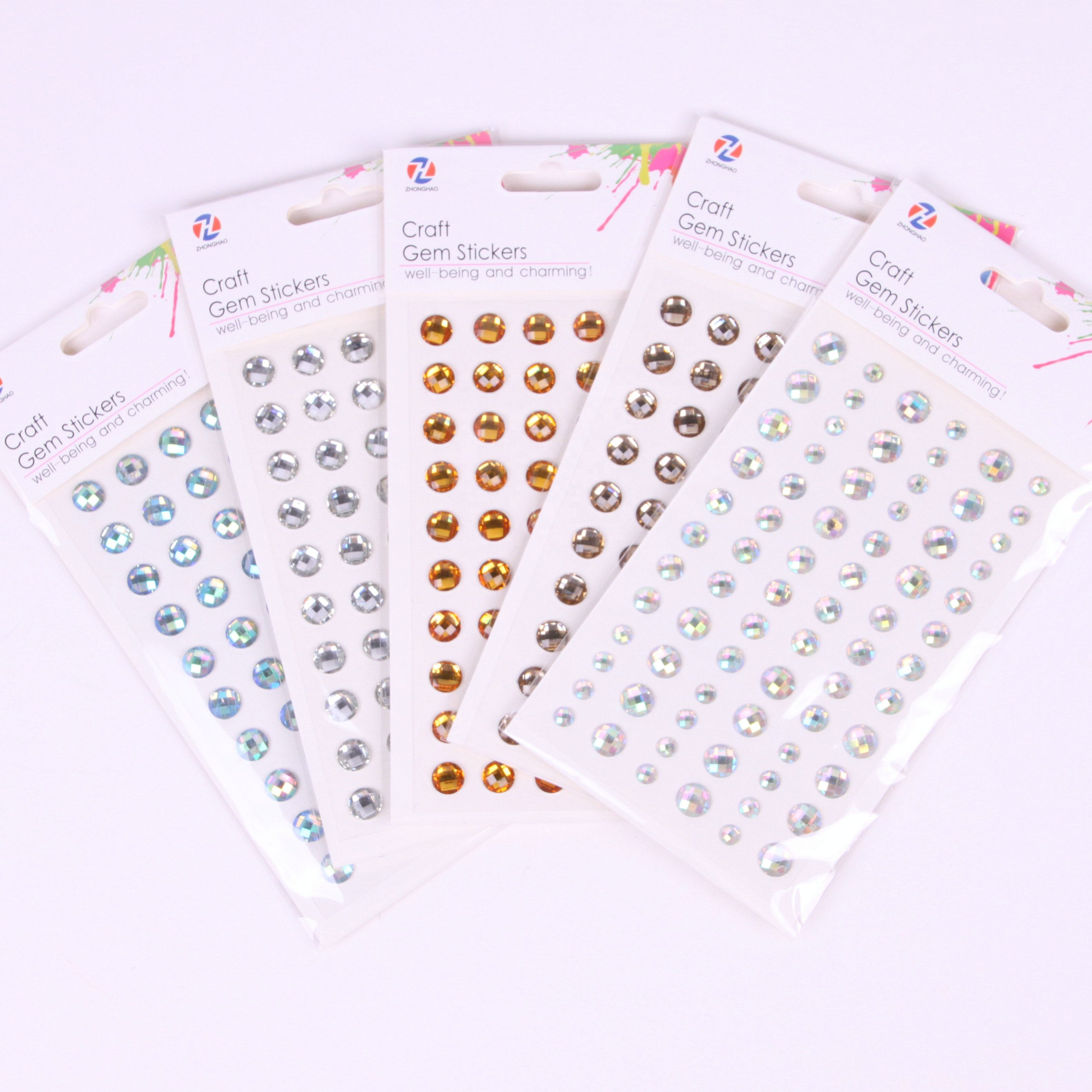 In voorraad gem crystal sticker rhinestone diamant sticker
