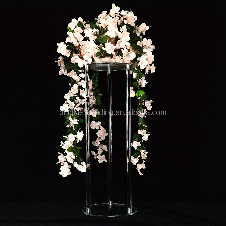 Runde <span class=keywords><strong>Form</strong></span> Klar Acryl <span class=keywords><strong>Hochzeit</strong></span> Dekoration Sockel Display Stand Tisch Mittelstücke für <span class=keywords><strong>hochzeit</strong></span>