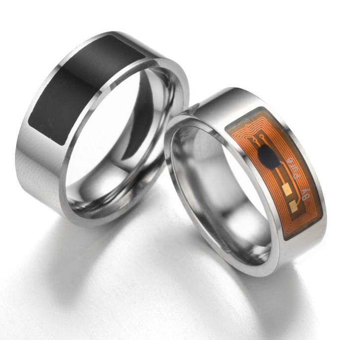 InStock Luxury NTAG 213 Chip Titanium / Ceramic NFC RFID Smart Ring with different size