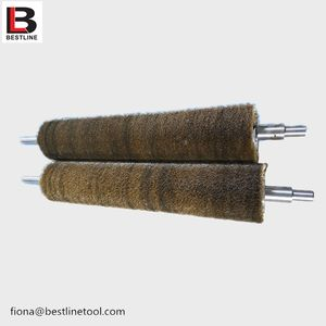 Customized stainless steel wire industrial brush roller for polishing and cleaning