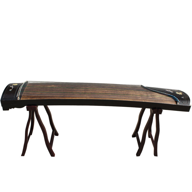 Chinese musical instrument Guzheng Red Wood Carving Guzheng Practice Getting Started Guzheng