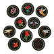 custom black round animal flower pattern iron on full embroidered patch badges