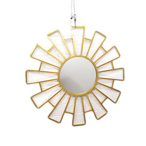 New Arrival Latest Design Gold Frame Decoration Sun Shape Wall Mirror