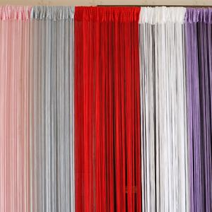 Polyester Solid color Dense String Door Curtain Panels for Wedding, Decoration, Fly Screen