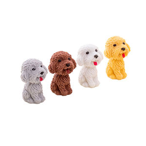 Fashion 3d pet dog erasers environmental protection TPR rubber eraser