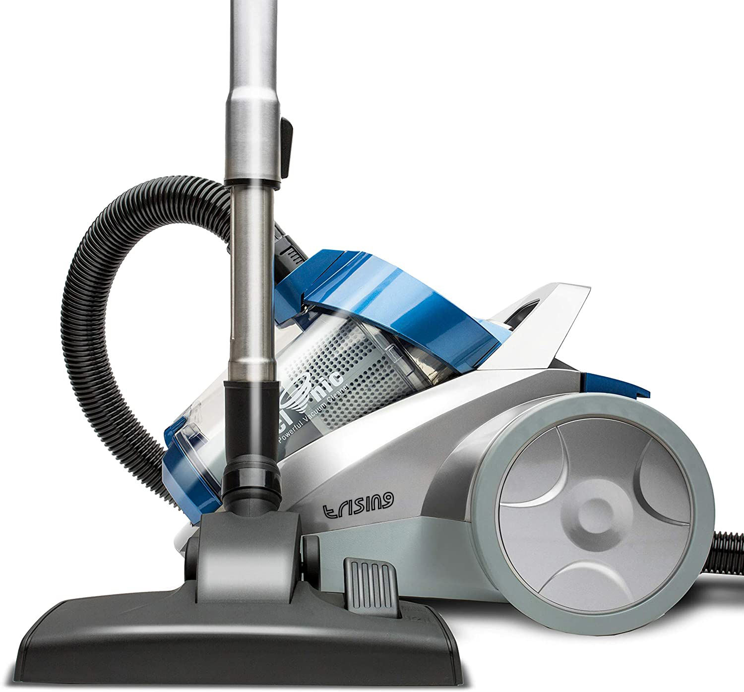 E-rising canister vacuum cleaner 4.0L cyclone HEPA Filter stainless steel 5m cable corded 700W eco motor vacuum 18kpa
