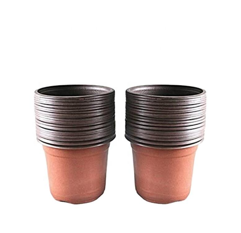 50 Pcs Plastic Plant Pots 15 cm Nursery Seedlings Pots Seed Starting Pots Flower Plant Container