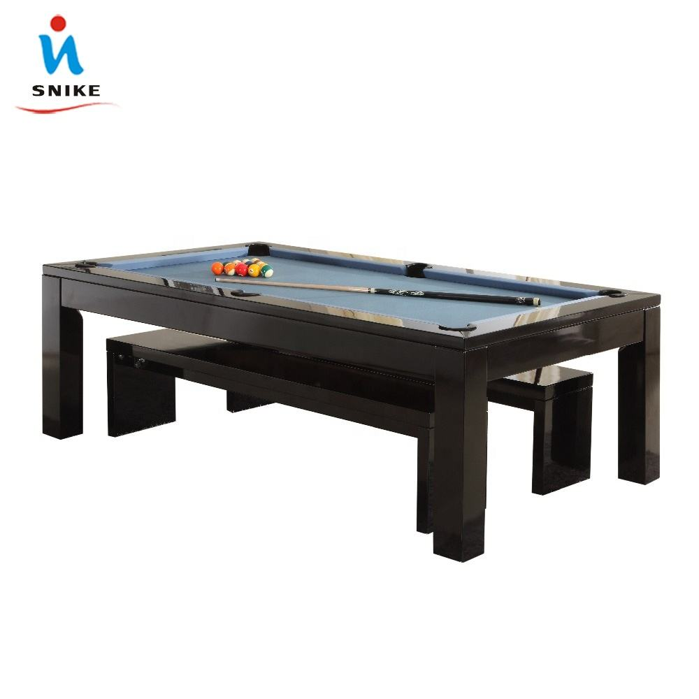 7ft 8ft modern convertible 2 in 1 dining pool table with desk