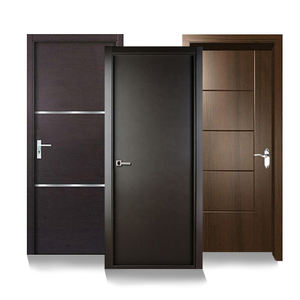 Modern design Swing door single Panel doors Residential wood interior house door with frames
