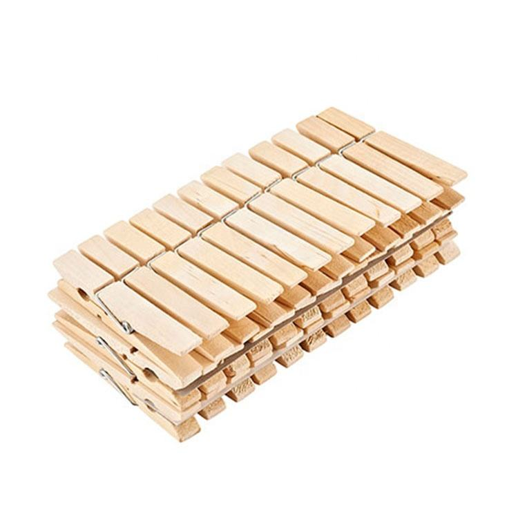 Good 36PCS Spring Wooden Clothes Pegs, Strong Birch Wooden Cloth Clothespin Peg