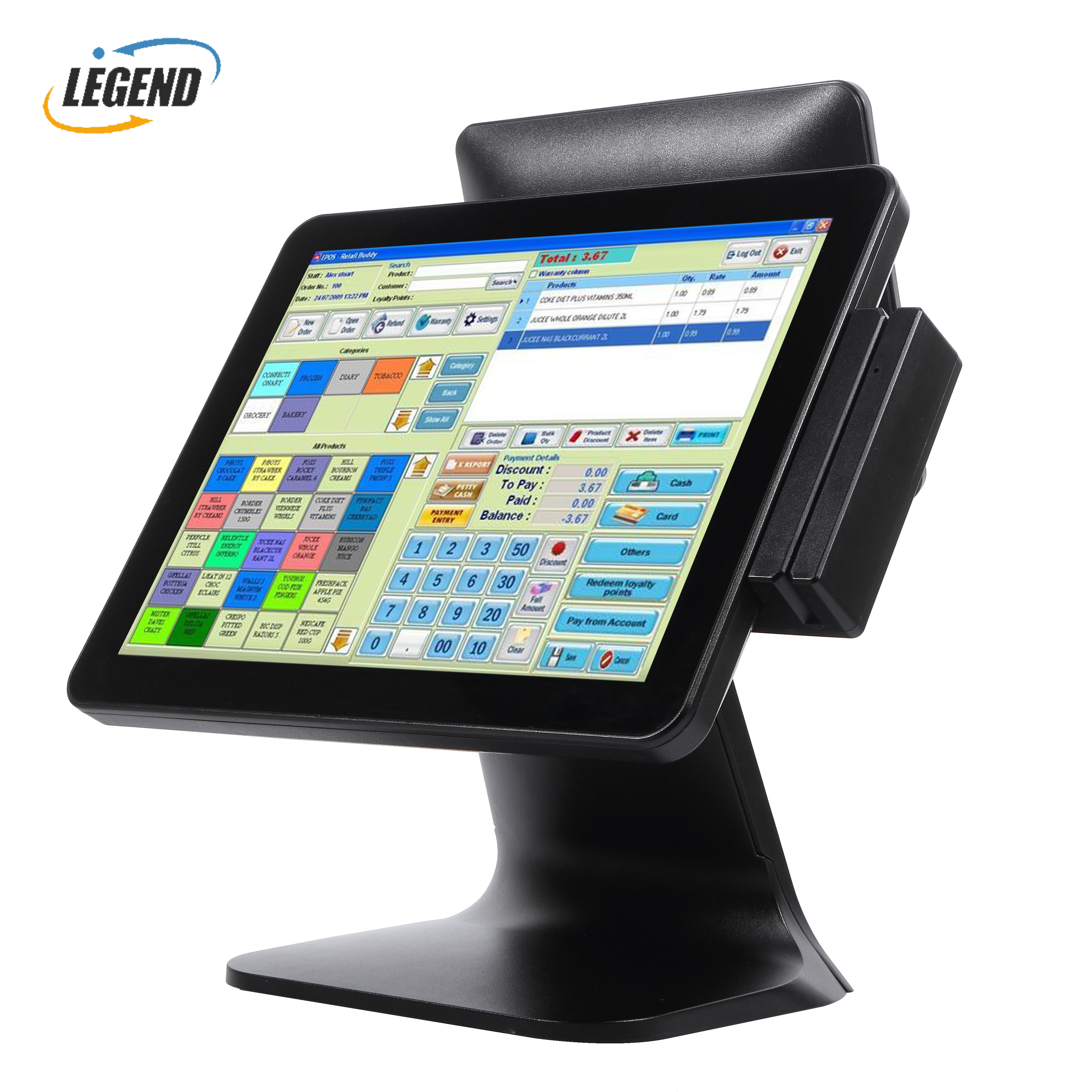 "Fabrik Alle in Einem 15 ""+ 9.7"" Touch POS <span class=keywords><strong>Hardware</strong></span> POS Monitor Display mit Selbst-Montieren Option"