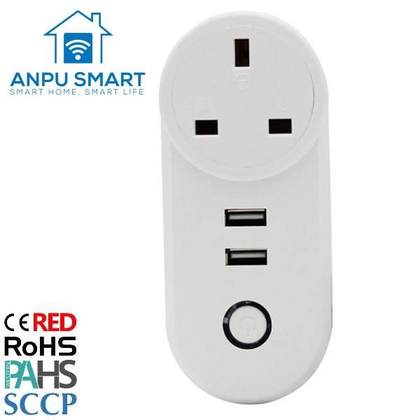 ANPU Wifi Control Home Smart Plug Wifi 2 USB Port für Smart Life mit CE ROHS
