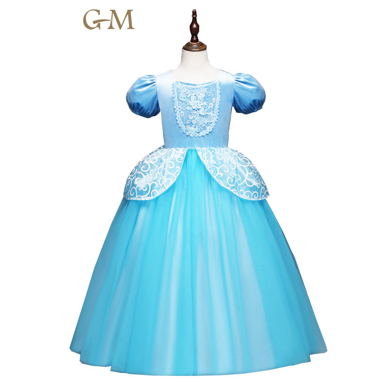 Cinderella Dress kids girl party dress christmas costume Role-play baby princess dress