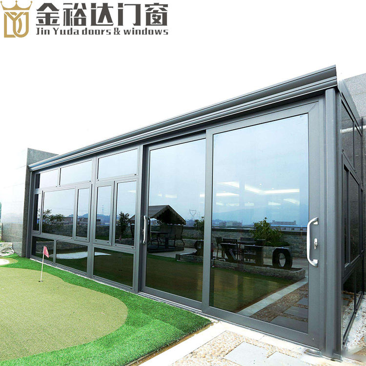 Aluminum alloy sun room custom outdoor toughened glass room terrace european-style villa transparent shade house
