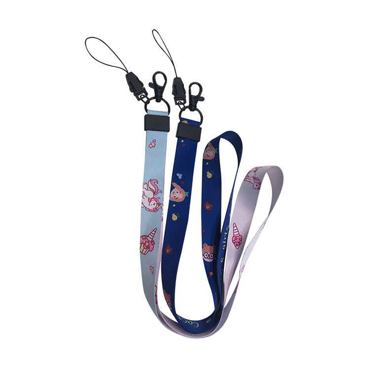 Cartoon Cell Phone Neck Lanyard With Buckle Security Whistle Lanyards