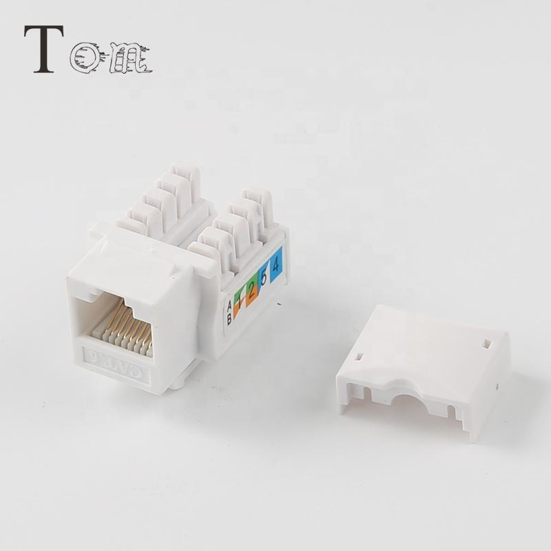 TOM-KJ-2-C6 Cat.6 UTP רשת מודול RJ45 Keystone ג 'ק 90 תואר UTP cat6 Keystone ג' ק