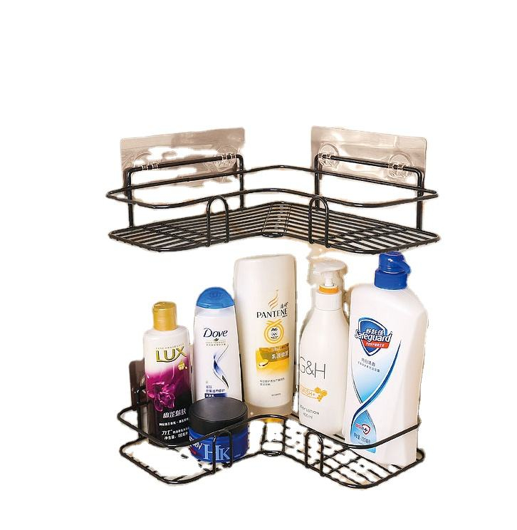 Adhesive corner shower shelves,plastic shampoo bottle in bathroom corner shelves