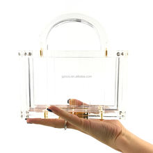 OC4118 Wholesale clutch bag with handle lady acrylic clear bag