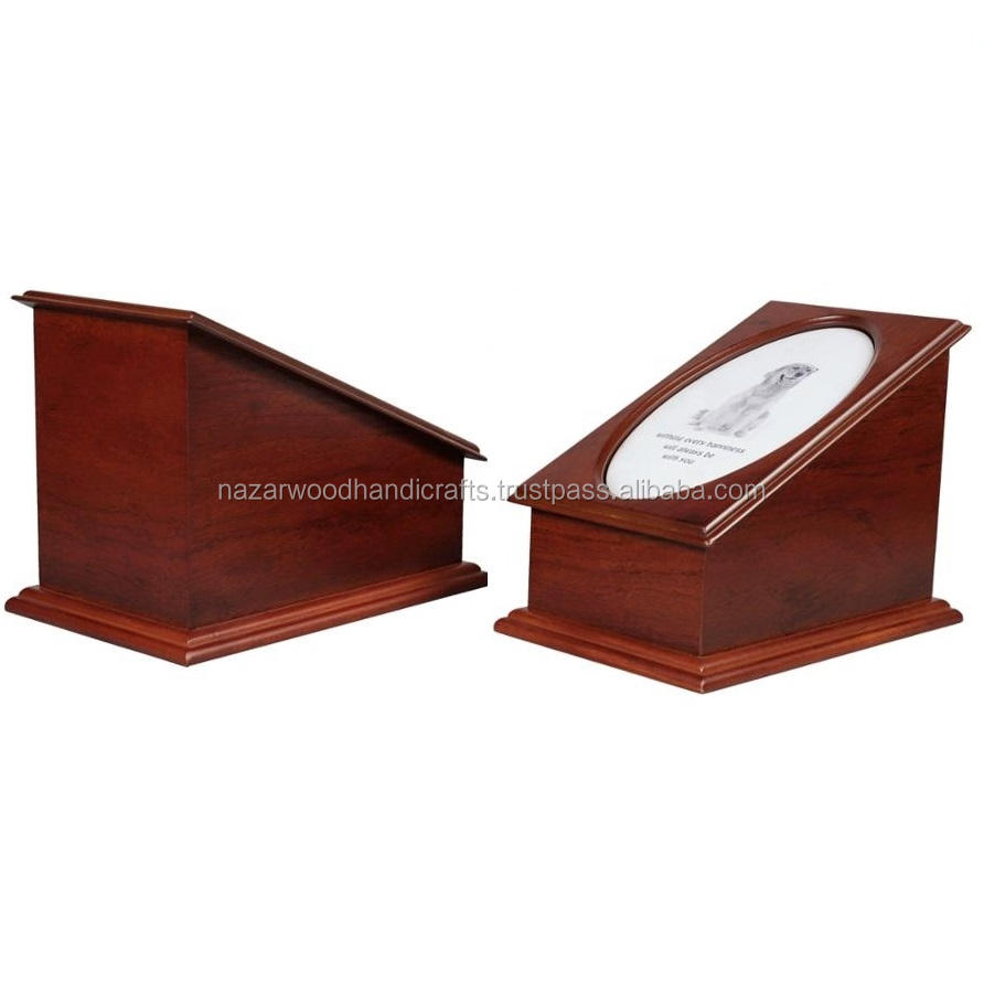 WOOD HANDICRAFTS NEW DESIGN WOODEN P[PICTURE FRAME PET CREMATION URNS ITEM