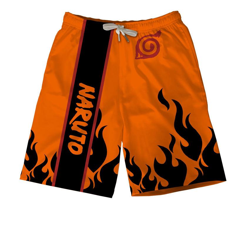 Anime Naruto Akatsuki Sasuke Quick Dry Short Pants Beach Surfing Sports Trunks