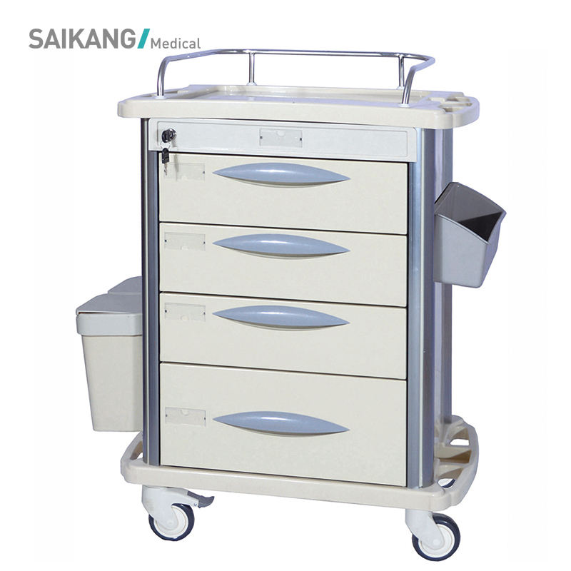 SKR-MT310 Durable Hospital ABS Emergency Medical Nursing Trolley