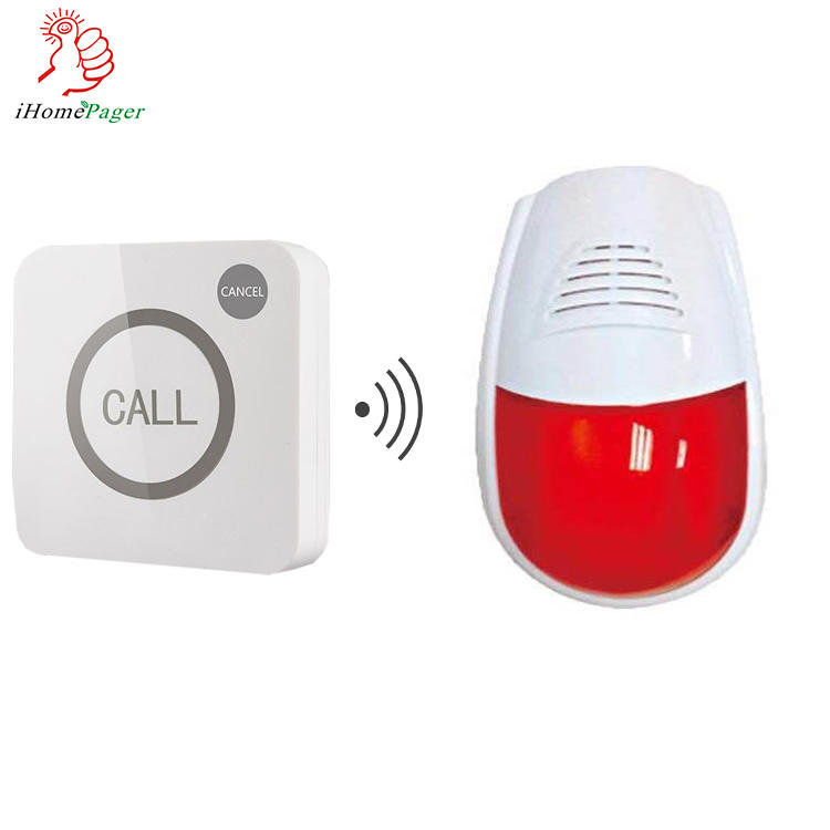 high quality wireless disabled toilet alarm system with Bathroom emergency call button and alarm light
