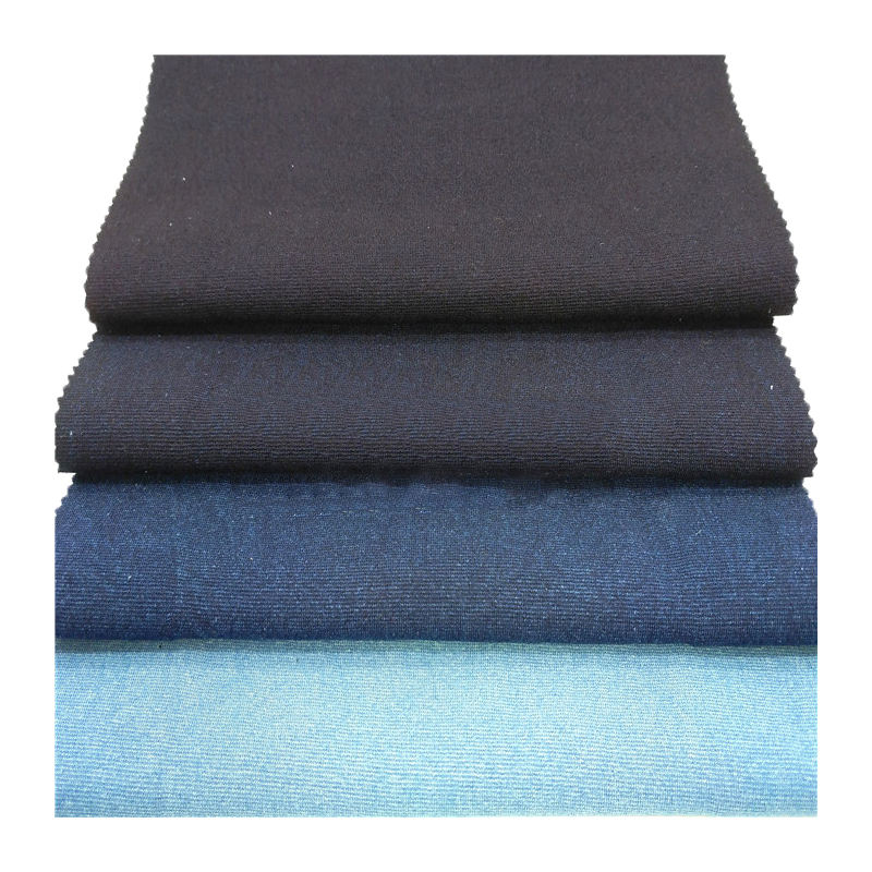 terry cloth knitted denim fabric wholesale indigo terry