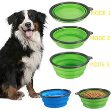 100% Food Grade Approved Foldable Big Travel Silicone Dog Bowl Pet Food Container