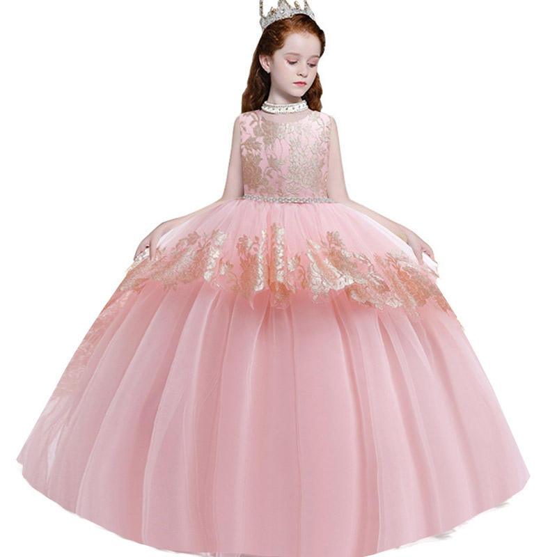 New Arrival 12 Years Old Girls Wedding Dresses Children Party Normal Frock Designs Teenage Birthday Dress LP-230
