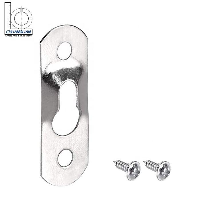 Stamping Parts Of Keyhole Triple Stage Hanging Mounting Bracket