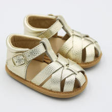 Leather Non-slip First Walking Barefoot Baby Shoe Children Sandals For Girls