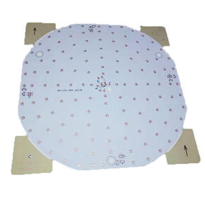 Ceiling Led Light pcb Board Aluminum Substrates Single Layer Round Shape pcb Copper Foil pcb