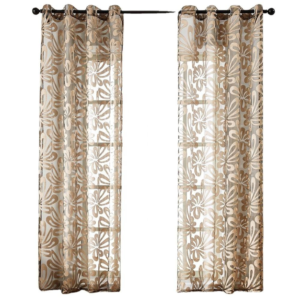 Indian Style Embroidery Window Sheer Curtain Fabric For Bedroom Drapes Voile Sale Embroidered Voile Curtain Living Room