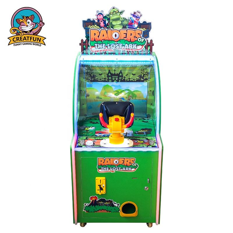 Indoor coin operated kids ticket redemption game machine 1 player arcade ball shooting game for children