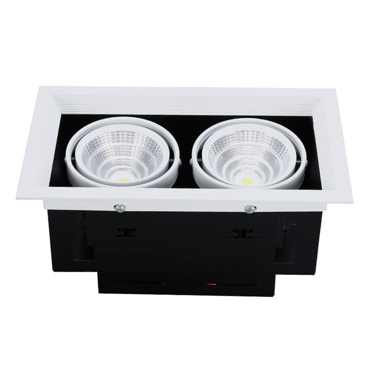 Hot Sell Customizable 5W 12W 20W 30W led 2x26w double recessed twin downlight