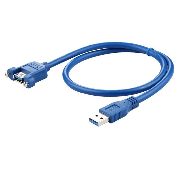 1 M USB 3.0 AM Để AF Chỉnh Núi Cáp Với Các Ốc Vít