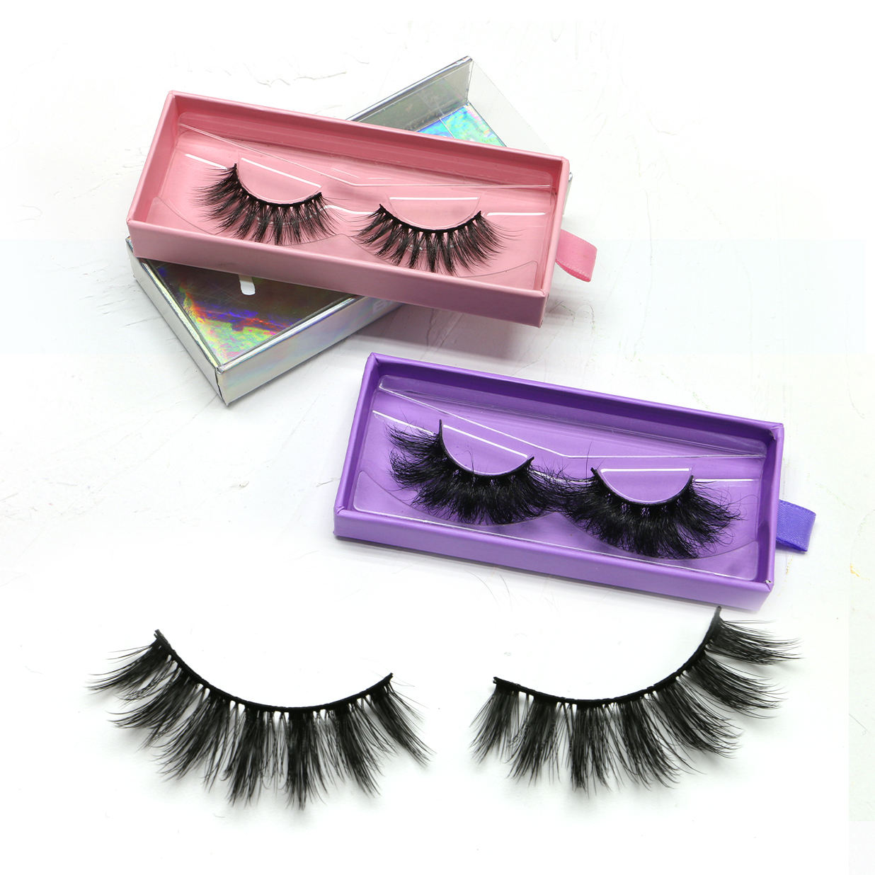 New Arrival Factory Price False Eyelash 3D Plus Faux Mink, 3D Faux Mink Eyelash Private Label Eyelash Box
