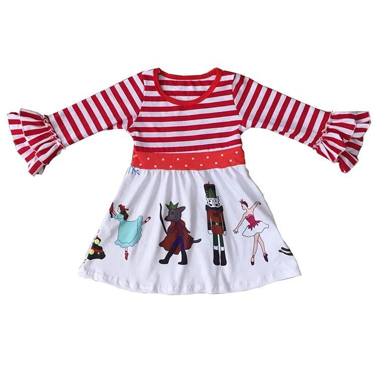 BAINA Beb/é Ni/ña Navidad Vestido 3PCS Set Manga Larga Fiesta Vestido Tutu con Bowknot Diadema Vestido de Navidad para beb/é y ni/ña 0-18 Meses